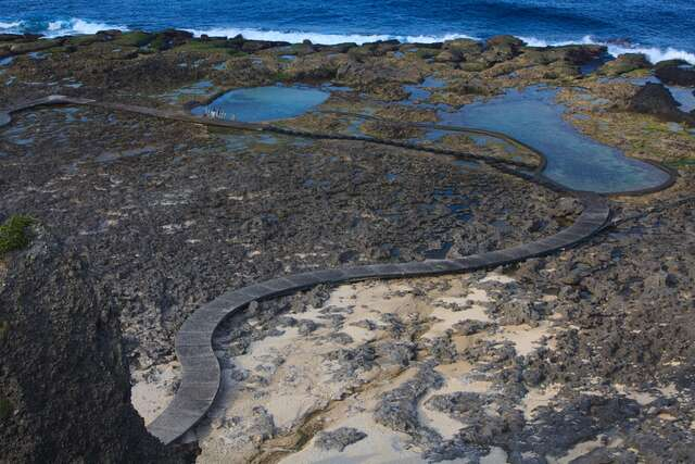 This is the hot spring area Asahi intertidal Trail